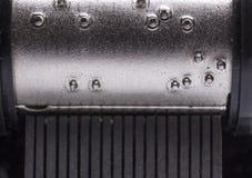 Macro shot of music box. Close up of music box made of steel Royalty Free Stock Photos