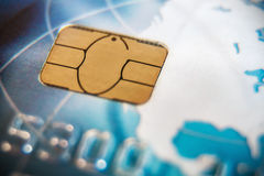 Macro shot with old credit card Stock Photography