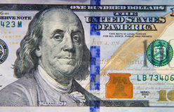 Macro shot of one hundred dollar bill Royalty Free Stock Image
