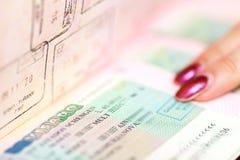 Macro shot of passport Royalty Free Stock Image