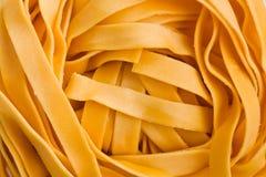 Macro shot of pasta tagliatelle Royalty Free Stock Image
