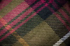 Macro shot of plaid garment. Macro shot of plaid textured garment Royalty Free Stock Photo