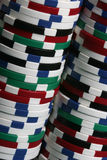 Macro shot of poker chips Royalty Free Stock Images