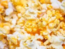 Macro shot of popcorn, selective focus Stock Photos