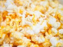 Macro shot of popcorn, selective focus Stock Image