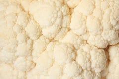 Macro shot of raw cauliflower. The macro shot of raw cauliflower Royalty Free Stock Photo