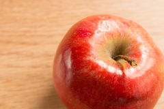 Macro shot of a red apple Stock Images