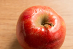 Macro shot of a red apple Royalty Free Stock Image
