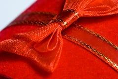 Macro shot of red ribbon royalty free stock photos