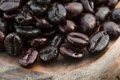 Macro shot of roasted coffee beans Stock Image