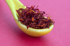 Macro shot of saffron Stock Image