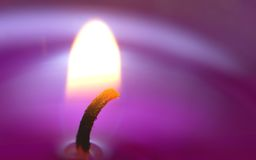 Macro shot a scented candle Royalty Free Stock Photography