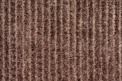 Macro shot of some brown velvet fabric Royalty Free Stock Photos