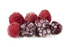 Macro shot of some frozen berries Stock Photo