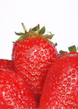 Macro shot of some strawberries. Studio shot, shallow DOF Stock Images