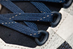 Macro shot of sport or running shoes. Closeup Royalty Free Stock Image
