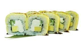 Macro shot of sushi. Japanese restaurant, sushi, oriental tradition. Stock Photos