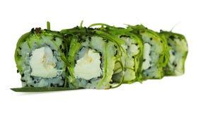 Macro shot of sushi. Japanese restaurant, sushi, oriental tradition. Royalty Free Stock Image