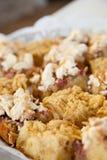 Macro Shot of Sweet Cake with Icing. Macro Shot of Sweet Homemade Cake with Icing Placed on a Table Stock Photography