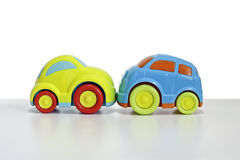 Macro shot of a toy car Royalty Free Stock Images