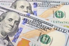 Macro shot of a 100 US dollar Stock Photography