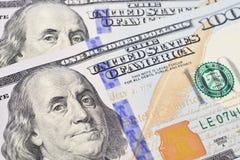 Macro shot of a 100 US dollar Stock Photos