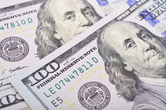 Macro shot of a 100 US dollar Royalty Free Stock Image