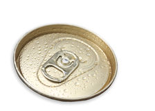 Macro shot of very cold beer can ring pull Royalty Free Stock Photography