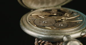 Macro shot of a Vintage pocket watch stock video footage