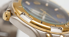 Macro shot of a  watch Stock Photography