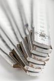 Macro shot of a white folding rule royalty free stock photo