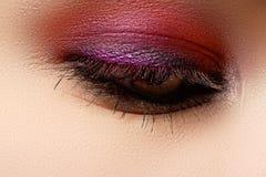Macro shot of woman's beautiful eye, bright and deep colors make Royalty Free Stock Photo