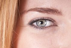 Macro shot of a woman's eye Royalty Free Stock Photography