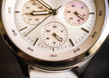 Macro shot of wrist watch Stock Images