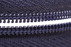 Macro shot of zipper Stock Photography
