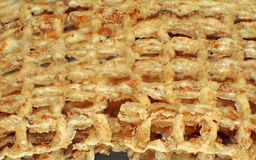 Macro shreddie wheat cereal Stock Photography