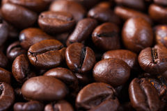 Macro shut of a roasted coffee beans - stock photo Stock Photography