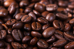Macro shut of a roasted coffee beans - stock photo Stock Photos