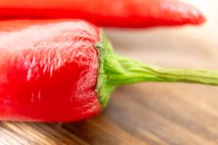 A Sicilian spicy pepper. A macro for a Sicilian spicy pepper Stock Photos