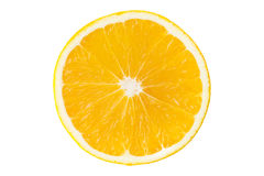 Free Macro Slice Of Fresh Orange Isolated On White. Saved With Clippi Royalty Free Stock Photography - 76591087