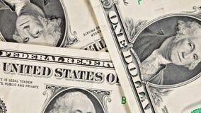Macro slide over dollar bills stock video footage