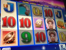Macro slot machine Royalty Free Stock Photography