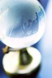 Macro of small glass globe Stock Photo