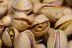 Macro of some pistachios Royalty Free Stock Photography