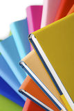 Macro of spiral stack of books Royalty Free Stock Image