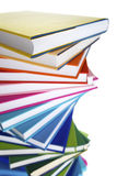 Macro of spiral stack of books Stock Photo