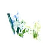 Macro spot blotch green, blue texture isolated on Stock Photography