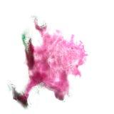 Macro spot blotch green, pink texture isolated on Stock Photos