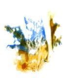 Macro spot blotch yellow, blue, green, brown Stock Image