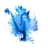 Macro spot blue blotch texture isolated on white Royalty Free Stock Photo